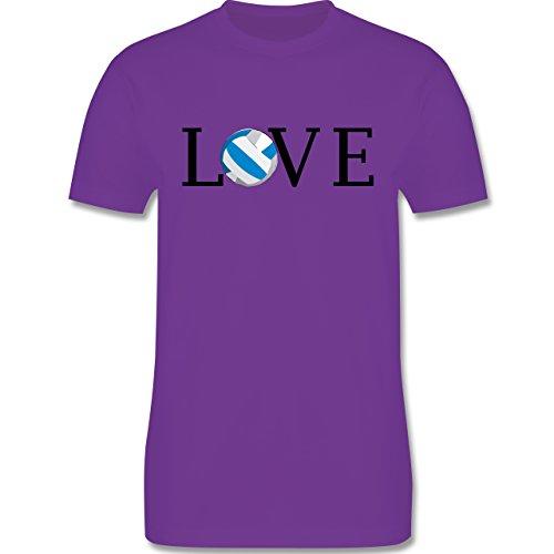 Volleyball - Volleyball Liebe Love - Herren Premium T-Shirt Lila