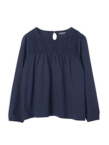 Vertbaudet Mädchen-Shirt mit Spitze Marine 116