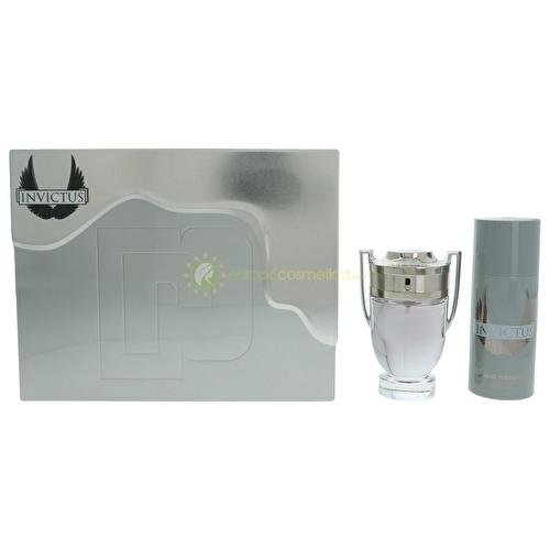 Paco Rabanne Invictus 2017 Coffret 100ml Eau De Toilette EDT & 150ml Deodorant Spray