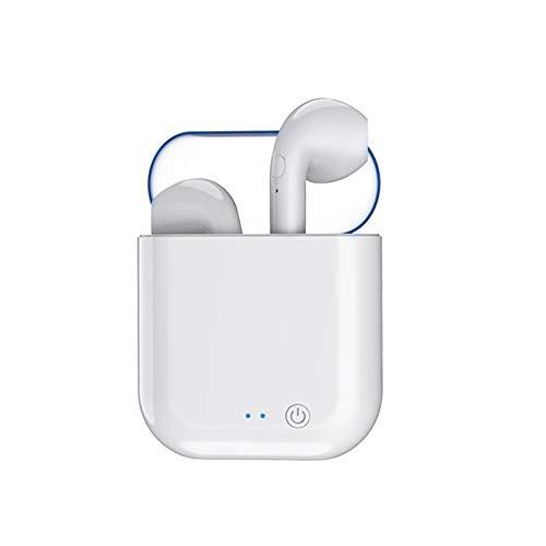 Cimic Bluetooth-KopfhöRer Mini-In-Ear-KopfhöRer 3D Stereo HiFi-KlangqualitäT SchweißBestäNdige SportkopfhöRer Wireless Binaural Plus Ladebox,Clear
