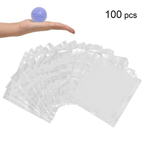 LazyMe Cellophan-Schrumpfbeutel, 15,2 x 15,2 cm, klein, für handgefertigte Produkte, transparent farblos