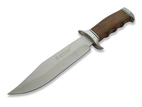 KOSxBO® klassisches Jagdmesser inklusive Gürteltasche aus Cordura - Outdoormesser 32cm Jäger Messer - Outdoor - Survival - Messer - Hunting Knife