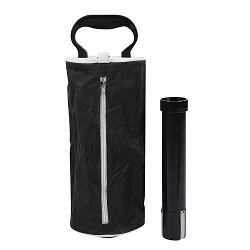 Mootea Golfball-Pick-Bag, tragbare Golfball-Pick-Up-Tasche Aufbewahrungstasche mit großem Fassungsvermögen und Reißverschluss(Black) -