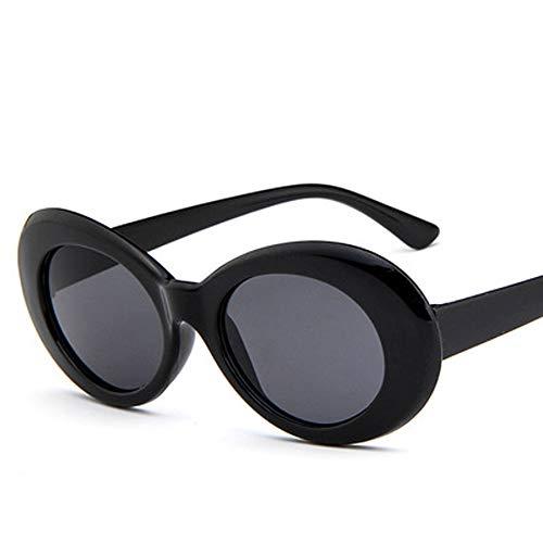 JIAW Sonnenbrillen Mode Sonnenbrille koreanischen elliptischen Sonnenbrillen Alien Brille Persönlichkeit Star-Sonnenbrille Flut