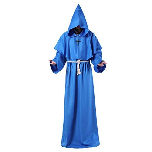 Amosfun Mönch Priester Kostüm Halloween Priester Robe für Cosplay Party Kostüm Umhang Gr. Large, - Priester Roben Kostüm