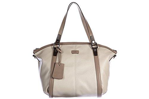 Tod's borsa donna a spalla shopping in pelle nuova bicolor grigio