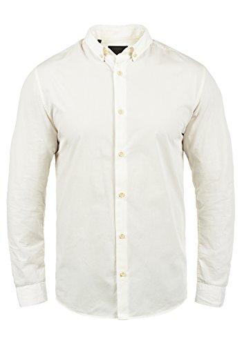 PRODUKT Pellegrino Herren Business Hemd Herrenhemd Mit Button-Down-Kragen Aus 100% Baumwolle, Größe:M, Farbe:Cloud Dancer