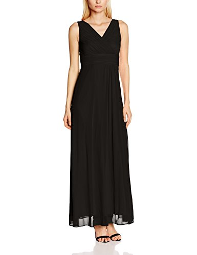 Swing Damen Empirekleid Maxi Länge, Schwarz (Black 100), 44