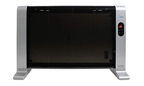 SUNTEC Infrarot-Wärmewelle Heat Wave Style 1500 LCD [Für Räume bis 30 m³ (~13 m²), Wellness-Wärme + gutes Raumklima, 3 Heizstufen, Timer, Freistehend/Wandmontage, 1500 Watt]