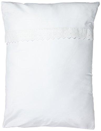 Kinderbett-set Weiße Baby-bettwäsche (Briljant baby Bettwäsche 60 x 80 cm, weiß)