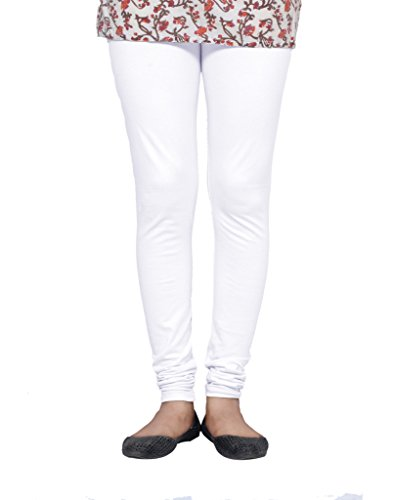 IndiWeaves Women Premium Cotton Full Ankle Length Churidar White Casual Legging