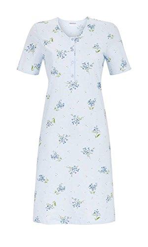 Ringella Damen Nachthemd mit Kurzarm Pastell-bleu 44 9211067, Pastell-bleu, 44