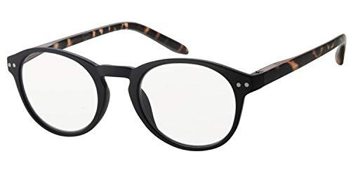 Euro Optics Klassische Lesebrille +2,0 schwarz Flexbügel SIE & IHN Lesehilfe Fertigbrille