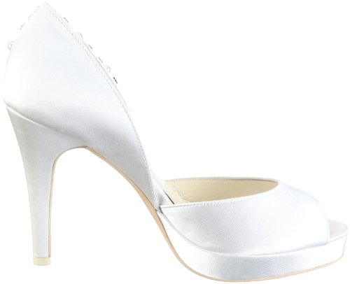 Menbur Wedding Talo Damen Peep-Toe Pumps Elfenbein (Ivory)