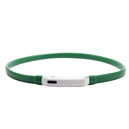 Hawkimin Jersey para Perros LED Collar de Perro de luz Intermitente Impermeable cinturón de Seguridad de Noche USB Recargable