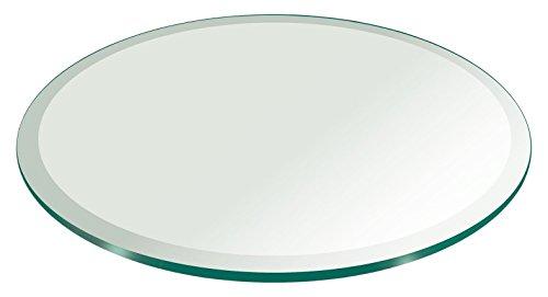Rund Glas Tisch eveled Edge von FAB Glas, 56RT12THBEAN