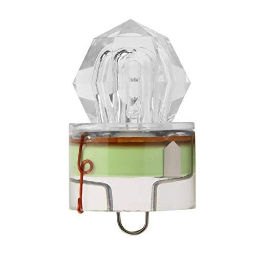 mimagogy LED Diamant-Form-Tiefsee-Fischen-Lampe LED fr Spaß-Fischen-Licht Attracting Underwater Strobe Flash
