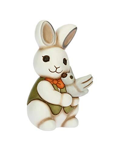 Thun ® - coniglio magico con colomba in ceramica, 16 cm