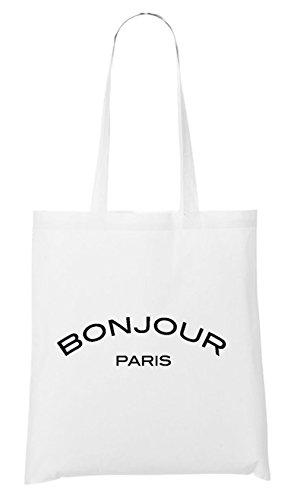 Certified Freak Bonjour Paris Bag White