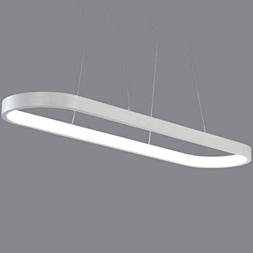 JU FU-Leuchte Rechteckige Esszimmer Kronleuchter, einfache moderne Bar Theke Wohnzimmer Büro kreative Designer LED Lampe Größe: 120x30cm @ (Farbe : Natürliches licht) -