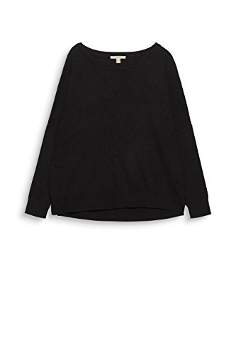 ESPRIT Damen Pullover Schwarz (Black 001)