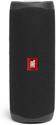 JBL Flip 5 Portable Waterproof Bluetooth Speaker with Hybrid Carrying Case (Black)