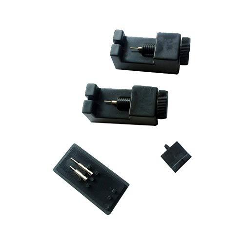 1 Set Kunststoff Mini Schmuck Uhren Reparatur Werkzeug Link Pin Entferner Band Einsteller mit 2 extra Pins schwarz