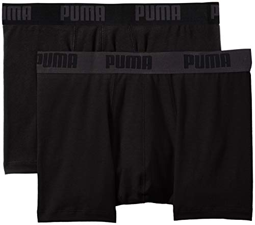 PUMA Herren Basic Boxer 2P Unterwäsche, schwarz (Black), XXL -