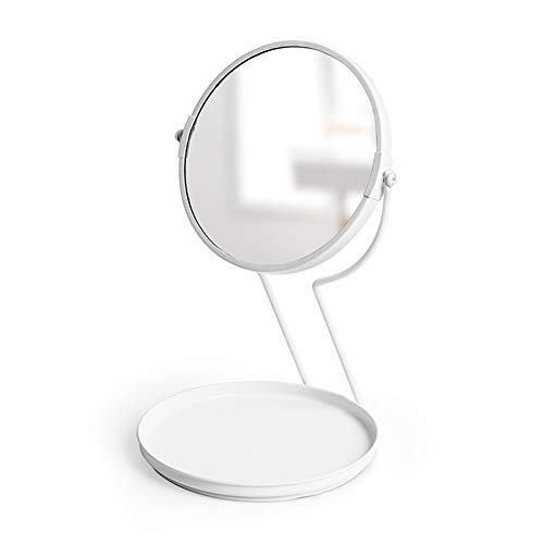 Gwo specchio per il trucco spaire desktop vertical double sided 7 pollici normale e 5x ingrandimento 2 in 1 specchio per il trucco rotante a 360 °