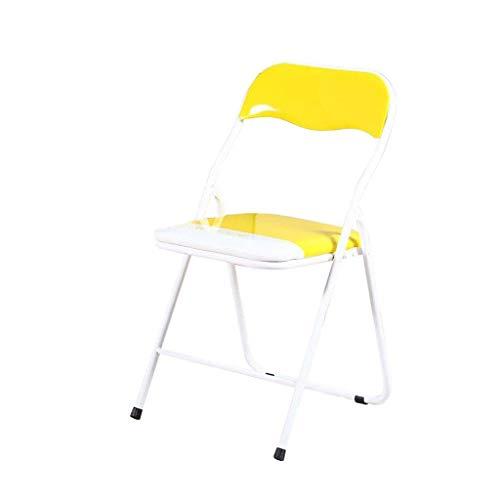 TSDS Klappstuhl Home Seat Gelb/Grün Recliner Super Soft Computer Stuhl Schreibtischstuhl (Color : Yellow) -