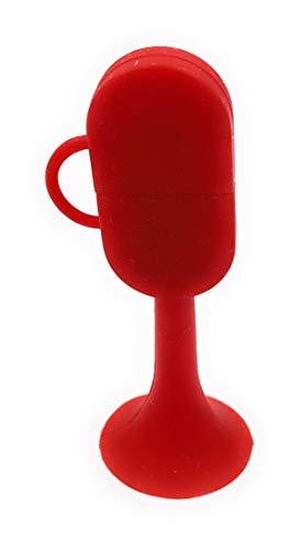 H-Customs Sektglas mit Henkel stehend rot champus USB Stick 8 GB Speicher USB 2.0