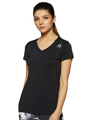 Reebok Damen Activchill Tee Shirt, schwarz, X-Small -