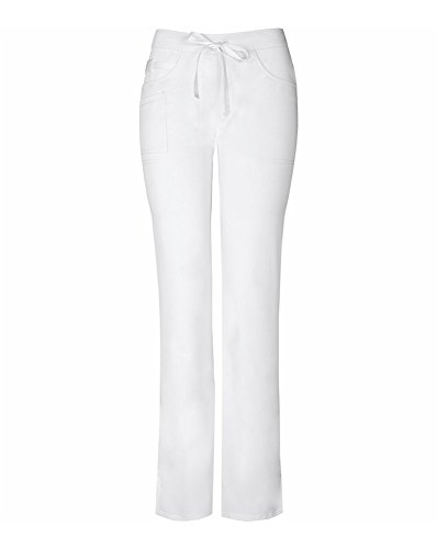 Code Happy Women's Cloud Nine Mid Rise Moderate Flare Leg Pant, White, Small (Kleine Flare Scrubs Hose)
