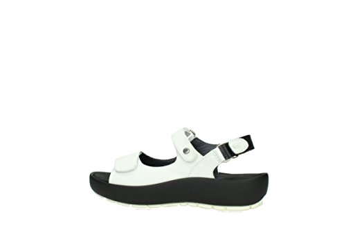 Wolky Womens Rio Leather Sandals Bianco (bianco)