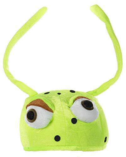 Horror-Shop Käfer Hut Bug mit Augen grün (Insekten-kostüme Erwachsene Für)