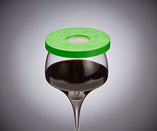 Wine-Tapa Wein Tapa Weinglas Cover: Halten Bugs auswaschbar Kunststoff Außen Getränk Deckel Marker für Gläser Dosen Cups Stemless Trinkgefäße 1 Limette (Wine Cup Markers)