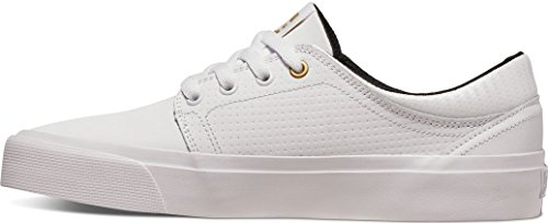 DC Shoes  Trase Le, Sneakers Basses Femme Blanc - White/Gold