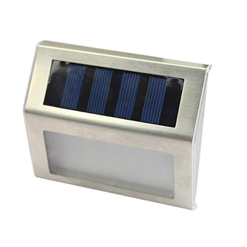 Tree-on-Life Warmweiß Solar Power 3 LEDs im Freien wasserdichte Gartenbahn Rasen Lampe Licht Energiesparende LED Solar Wandleuchte -