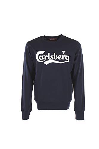 Carlsberg Felpa Uomo XL Blu Cbu3537 Primavera Estate 2019