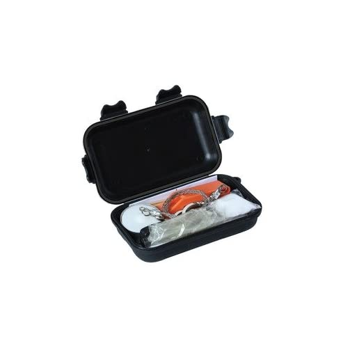 Survival Kit A complete Survival Kit in a Waterproof plastic case in poly bag with header card.