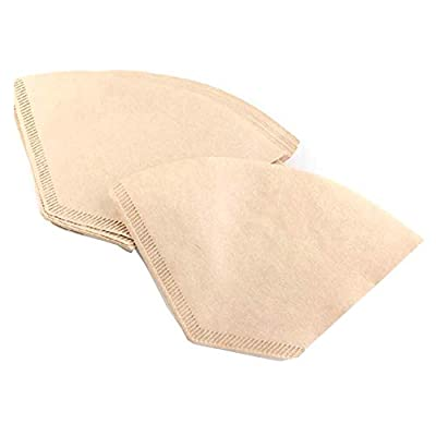 WeFine Coffee Filter Papers Disposable Unbleached Coffee Papers Suitable for Coffee Machines and Coffee Cones,Pack of 100 - Size Four (4)