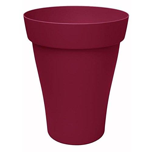 ROMEO PLUS Pot haut rond 55/67cm - Contenance 70l - Griotte