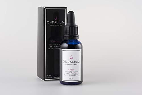 Ondalium CIRCUL | Extracto fluido circulatorio con AJO NEGRO ecológico (1 mes) - Producto para la mejora del sistema CARDIO-CIRCULATORIOy como energizante sexual natural