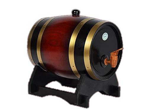 JASNO 5L Eichenfass Holzfass Für Lagerung Oder Alterung Wein & Spirituosen Weinhalter Weinspender,Redwine Gas Pump Dispenser
