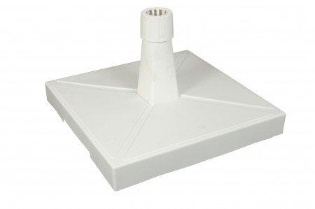 Pied de parasol à roulettes FOOT Blanc 20 kg
