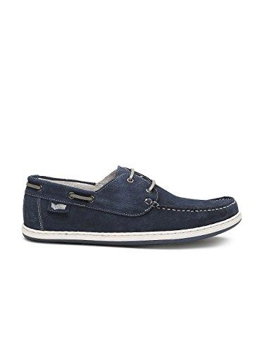 Gas Men Navy Preppy Boat Shoes