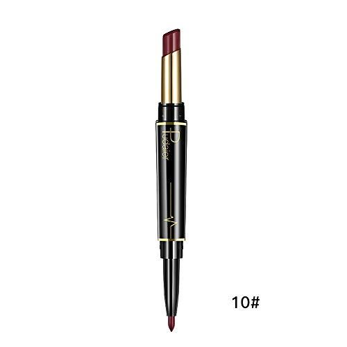 Innerternet Set De CosméTiques De Maquillage De Longue DuréE ImperméAble Crayon-Crayon à LèVres éTanche Double Boutonnage Lipliner ImperméAble 16 Couleurs (J)