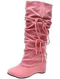 fff70744f7717 Junkai Bottes Cuissardes Chaussures Femmes,Les Femmes soulèvent des  Plates-Formes Cuissardes Hautes de