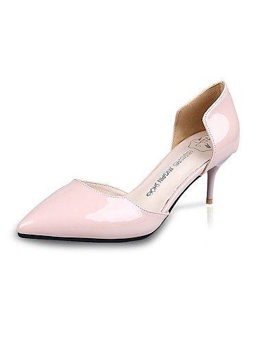 GS~LY Damen-High Heels-Lässig-PU-Stöckelabsatz-Absätze-Schwarz / Rosa / Rot / Grau gray-us7.5 / eu38 / uk5.5 / cn38