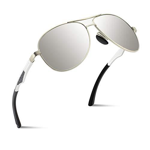CGID Polarisierte UV400 Schutz Prämie Al MG Metall Rahmen Pilot Sonnenbrille Pilotenbrille Für Herren GA61 - Gesichts-gewebe-marken
